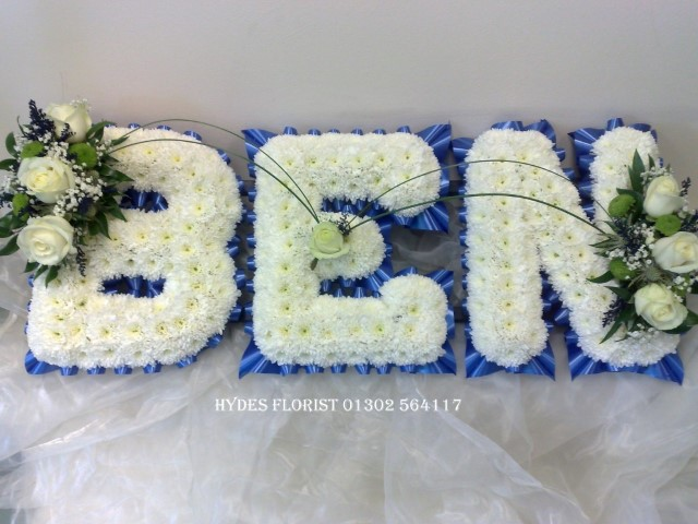 funeral letters £29 per letter