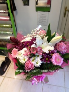 hand tied bouquet mothers day £35