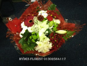hand tied christmas bouquets from £35