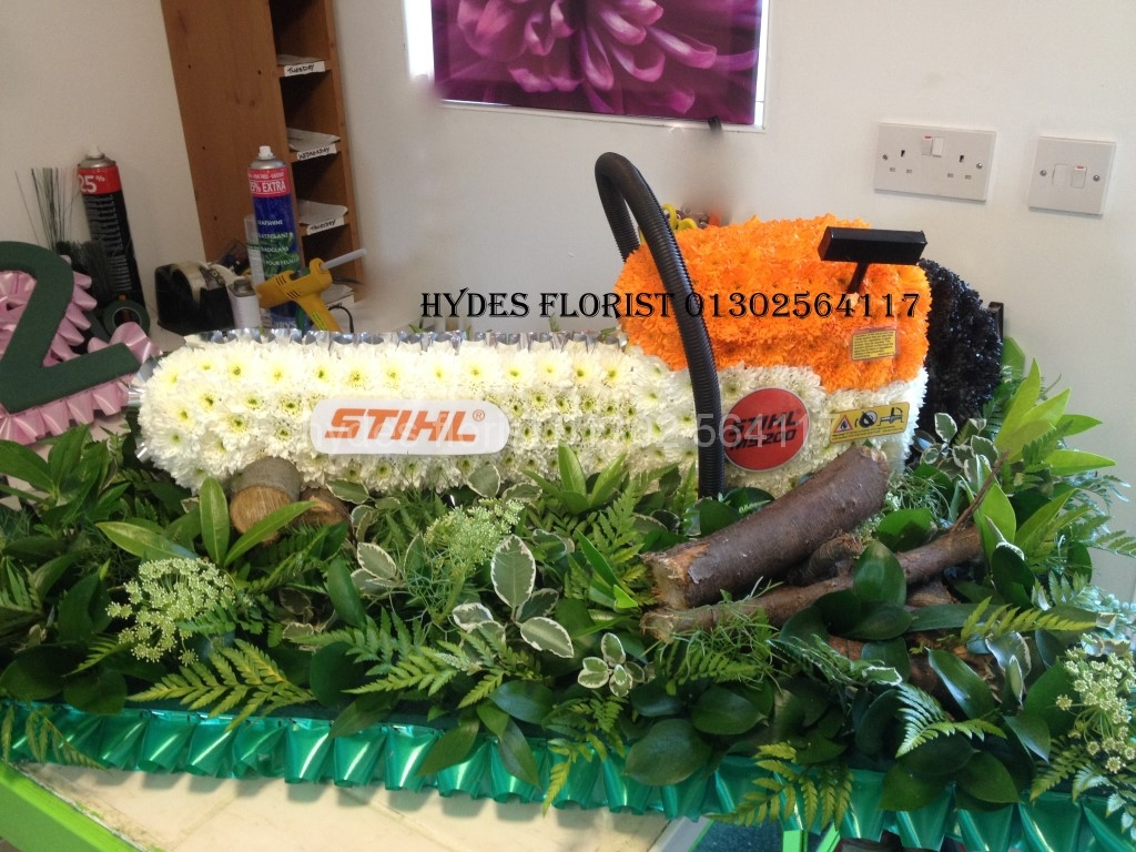 Bespoke funeral tributes hydes florist sthil chainsaw funeral custom tribute hydes florist doncaster medium dhlflorist Choice Image