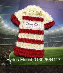 doncaster rovers shirt bespoke funeral tributes hydes florists doncaster