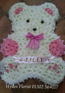 teddybear funeral flowers baby hydes florist doncaster