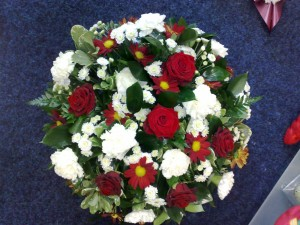 red roses and whites