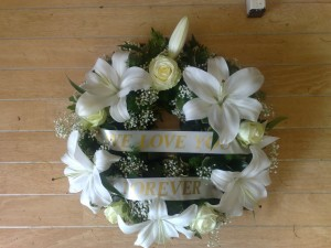 wreath with banner